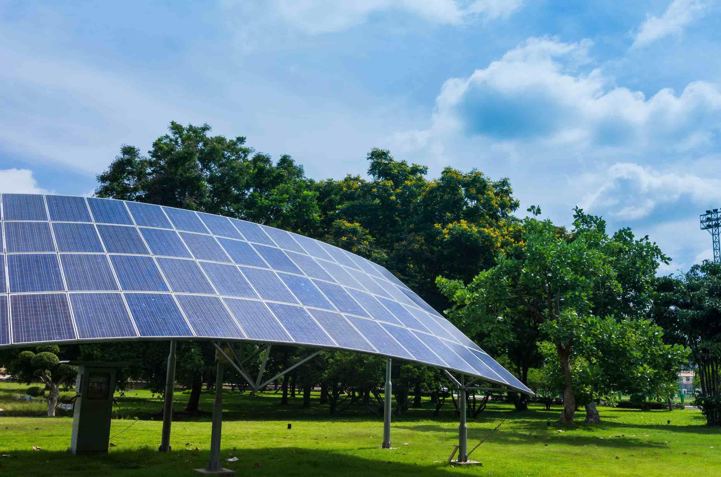 Pensilina moduli fotovoltaici