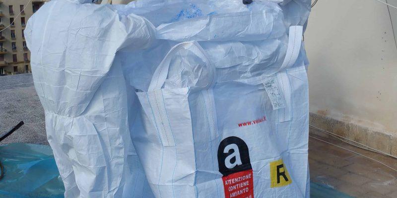 bonifica serbatoio amianto imballaggio